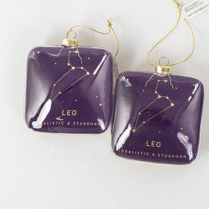 🎄🎄NWT 2 Leo Astrological Christmas ornaments
